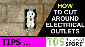 kitchen backsplash how to cut tile around electrical outlets youtube