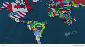 World Map Pinboard by 3d World Map Zoom To South America Stock Animation 529620