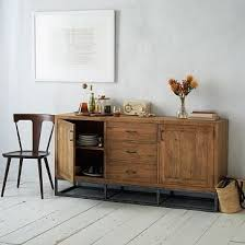 narrow sideboards and buffets foter modern rustic dining room