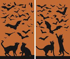amazon com wowindow posters cats u0026 bats silhouettes orange and