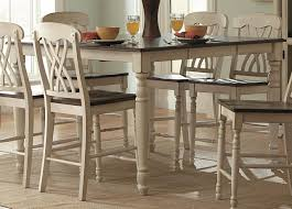 homelegance ohana counter height table in antique white warm