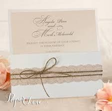 Card Invitation Handmade Vintage Rustic Lace Day Eve Wedding Card Invitation