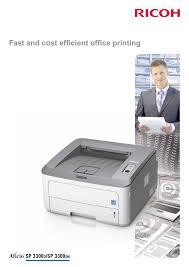 download free pdf for ricoh aficio sp3300dn printer manual