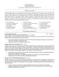 Sample Resume  Enforcement Resume No Experience Photograph  Alib