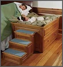 a bed with a built in dog bedsid bunk bed plans with stairs