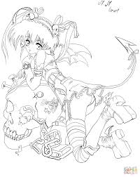 anime demon by gabriela gogonea coloring page free