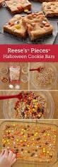 reese u0027s pieces halloween cookie bars recipe peanut butter