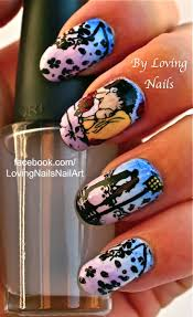 hd moyou london nail art stamping decal technique gradient
