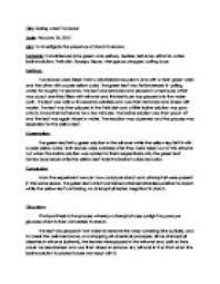 help writing biology lab report