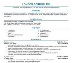 Registered Nurse Resume Examples by Nurse Resume Templates Professional Nurse Resume Template