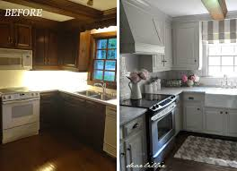 Dark And White Kitchen Cabinets Decorating Dear Lillie Kitchen Makeover With Electric Stove And