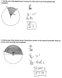 area of a sector worksheet worksheets reviewrevitol free