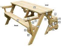 Plans To Build A Picnic Table Bench by The 25 Best Folding Picnic Table Plans Ideas On Pinterest