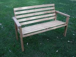 Build Wood Garden Bench by Exterior Beautiful Garden With Charming Diy Patio Bench Design