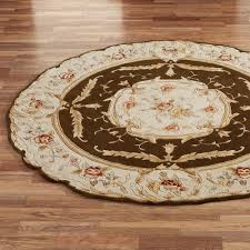 Round Bathroom Rugs by Rose Aubusson Sculpted Round Area Rugs