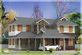 june 2012 kerala home design and floor plans 2500 square feet sloping roof house