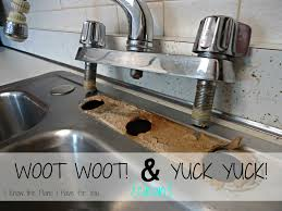 Removing An Old Kitchen Faucet by I Know The Plans I Have For You Installing A New Kitchen Faucet