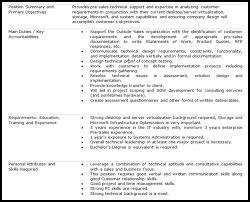 Car Sales Consultant Job Description Resume by It Architect Job Description By Infotech Project Architect Job