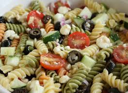 feta and vegetable rotini salad recipe celery pasta salad and