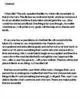 my present career narrative essay quot my career goals essay examples kibin Choco obamFree Essay Example obam