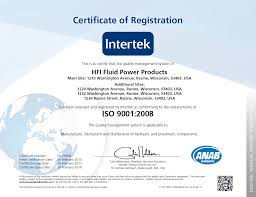 quality control at hfi fluid power products and iso 9001 2000