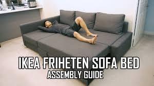 ikea friheten sofa bed assembly guide youtube