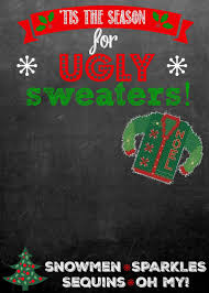 ugly sweater party customizable invitation 130 cash giveaway