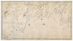 Map Of Portland Maine by Lemuel Moody U0027s Landmark Chart Of Casco Bay Rare U0026 Antique Maps