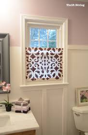 Bathroom Window Treatment Ideas How To Make A Pretty Diy Window Privacy Screen Window Screens