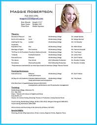 Example Of Resume Objectives best 25 acting resume template ideas on pinterest resume