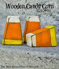 halloween crafts with candy wooden candy corn craft project tutorial