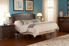 deluxe wooden king size bed with headboards for adjustable beds