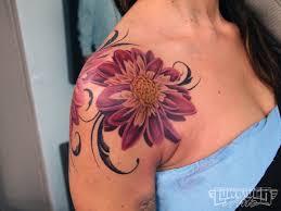 colorful rose shoulder tattoos tattoos pinterest shoulder