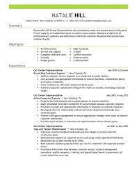 Customer Services Resume Sample by Simple Call Center Representative Resume Example Livecareer