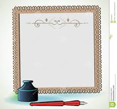Paper With Writing Pretty Writing Paper With Ink Bottle And Pen Stock Vector Image