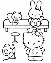 hello kitty free coloring pages