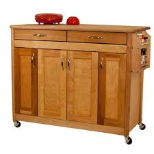 kitchen carts carts islands utility tables the home depot natural kitchen cart with butcher block top