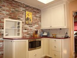 100 faux brick kitchen backsplash interior modern false red