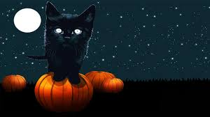 halloween background 1366x768 cute cat halloween backgrounds clipartsgram com