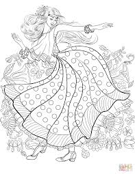 hippy from 60 u0027s dancing coloring page free printable