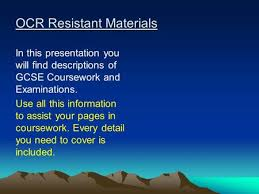 OCR Textiles In this presentation you will find descriptions of