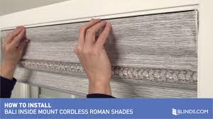 how to install bali cordless roman shades inside mount u0026raquo