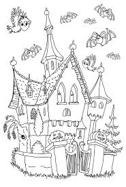 castle halloween coloring pages u2013 halloween wizard