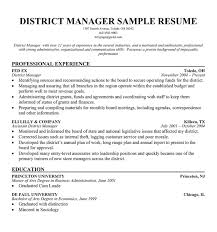 Sales Manager Sample Resume by Download District Manager Resume Haadyaooverbayresort Com