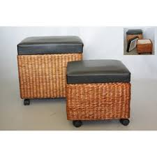 coastal storage ottomans u0026 poufs you u0027ll love wayfair