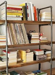Build Wooden Shelf Unit by Best 25 Pipe Bookshelf Ideas On Pinterest Diy Industrial