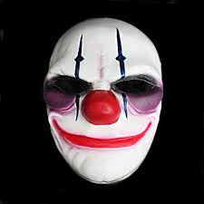 halloween mask costumes payday 2 the heist joker clown mask costume props halloween mask