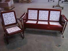 powdercoated restored vintage metal patio gliders vintage