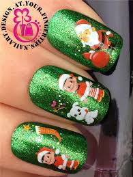 christmas nail art stickers water decals transfers snowflakes