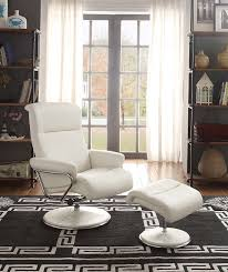 Swivel Recliner Chairs For Living Room Amazon Com Homelegance 8550wht 1 Swivel Reclining Chair With